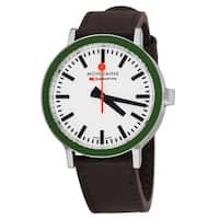 Mondaine Men's A9500.30363.16SBH 'Gottardo 2016' White Dial Brown Leather Strap Limited Edition Swiss Quartz Watch