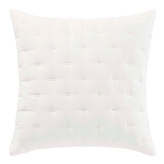 Vera Wang Luster White Throw Pillow