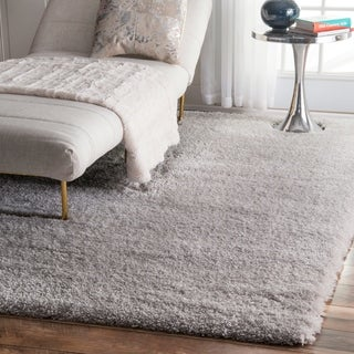 """Silver Orchid Silver Rita Soft and Plush Cloudy Solid Shag Square Area Rug - 7' 10"""""""