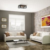 Verona 2-Light Dark Bronze Flush Mount Ceiling Light