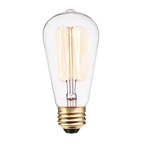 60-Watt S60 Squirrel Cage Incandescent Filament Light Bulb - White