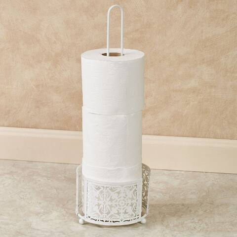 Lace three roll spare toilet tissue holder