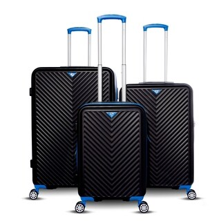 Gabbiano Explorer Collection 3-Piece Expandable Hardside Luggage Set