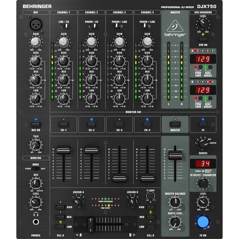 Behringer DJX750 Professional 5-Channel DJ Mixer w/Advanced Digital Effects and BPM Counter