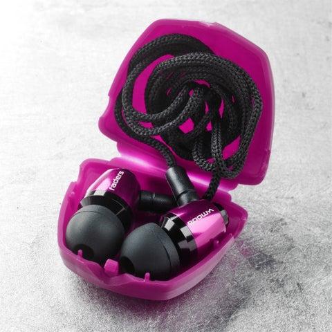 V-MODA Faders VIP Tuned Earplugs w/ Detachable Cord & Case - Electro Pink