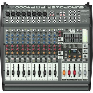 Behringer EUROPOWER PMP4000 1600-Watt 16-Channel Powered Mixer with Multi-FX Processor and FBQ Feedback Detection System