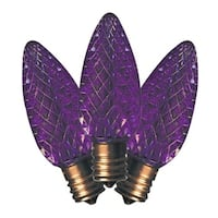 Holiday Bright Lights  LED C9  Faceted  Christmas Light Bulbs  Purple  2 in. 25 pk
