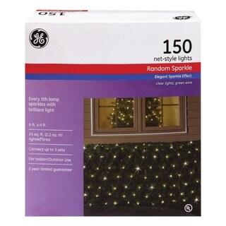 GE  Constant On  Incandescent  Net  Light Set  Clear  24 sq. ft. 150 lights