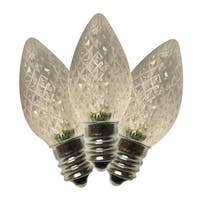 Holiday Bright Lights  LED C7  Faceted  Christmas Light Bulbs  Warm White  2 in. 25 pk