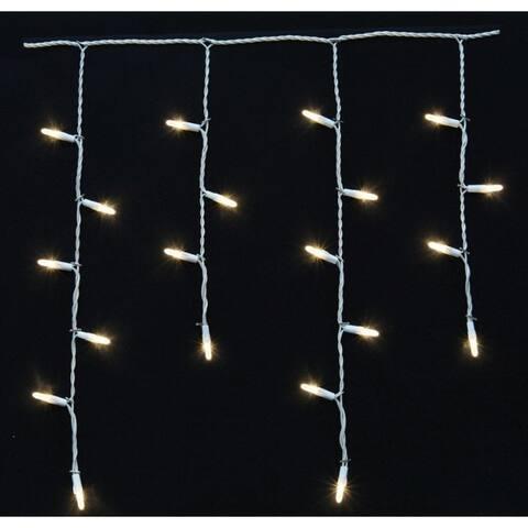 Celebrations Platinum LED Icicle Light Set On A Reel White 9-1/2 ft. 100 lights
