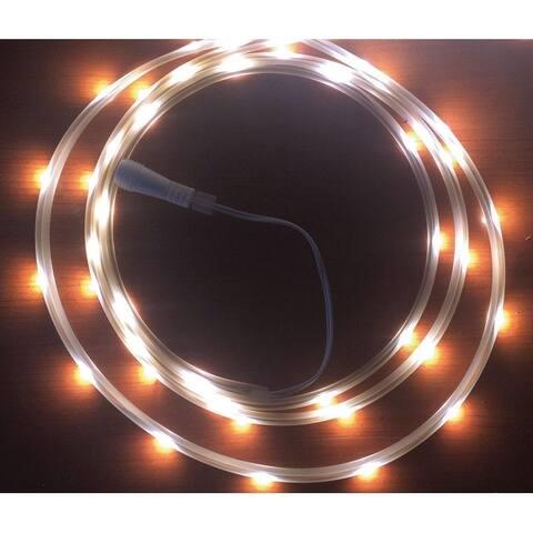 Celebrations LED Flex Tape Rope Lights Cool White 16-1/2 ft. 99 lights