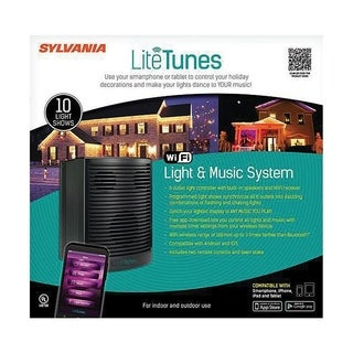 Sylvania WiFi Light and Music System Music System Black Plastic 1 each