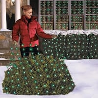 Celebrations  Incandescent  Net Light Set  Green  24 sq ft  150 lights