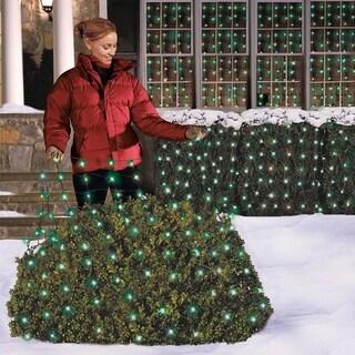 Celebrations Incandescent Net Light Set Green 24 sq ft 150 lights
