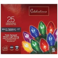 Sienna  LED C7  Twinkle  Light Set  24 ft. 25 lights