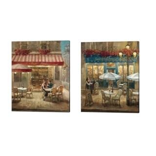 Danhui Nai 'Paris Café' Canvas Art (Set of 2)