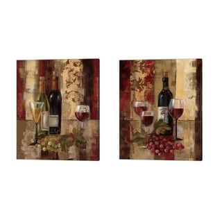 Silvia Vassileva 'Graffiti and Wine' Canvas Art (Set of 2)