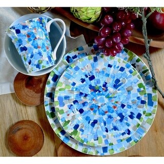 Solena Blue 16 Piece Dinnerware Set