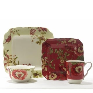 222 Fifth Lutece Mixed 16 Piece Dinnerware Set, Service for 4
