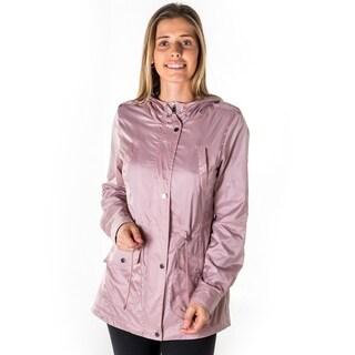 Ladies Plus Size Zip Up Light Weight Nylon Anorak Jacket