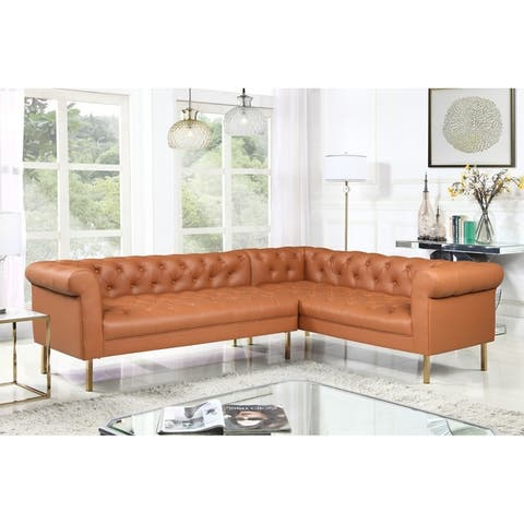 Chic Home Julian Right Facing Sectional Sofa PU Leather Upholstered