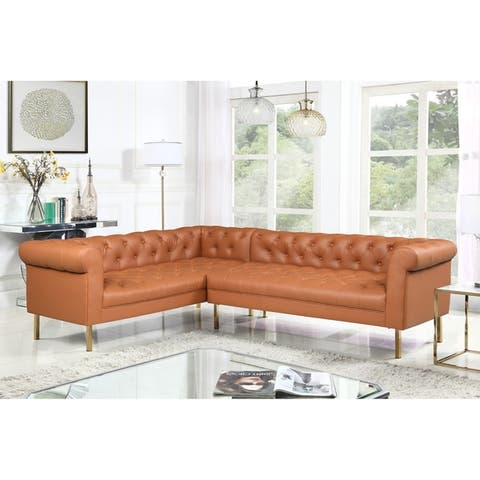 Chic Home Julian Left Facing Sectional Sofa PU Leather Upholstered