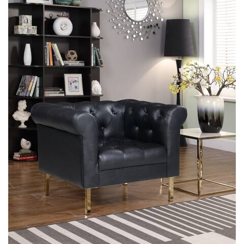 Chic Home Julian Club Chair PU Leather Upholstered Button Tufted