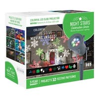 Night Stars  LED  Lightshow  Holiday Images Motion Projector  White  1 lights