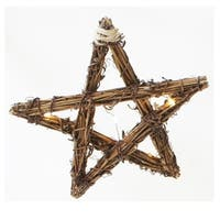 Sienna  Rope Star  Christmas Decoration  Grapevine  1 pk Brown