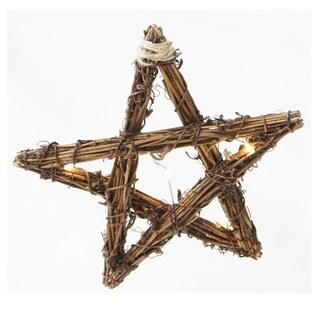 Sienna Rope Star Christmas Decoration Grapevine 1 pk Brown