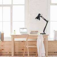 """35"""" Heavy Base Architect Spring Balanced Swing Arm Desk Lamp, Black Finish"""