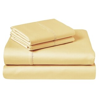 450 Thread Count Sheet Set Queen Mellow Yellow