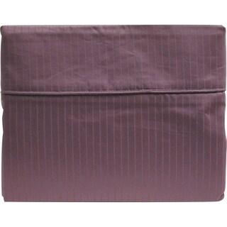 600 Thread Count Egyptian Cotton Tuxedo-Striped Sheet Set Queen Lavender