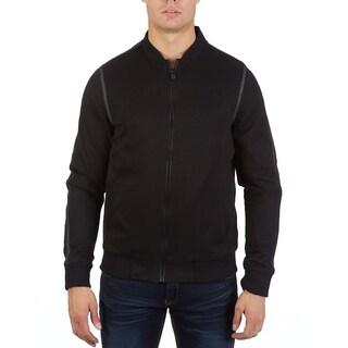 Men's honeycomb bomber jacket
