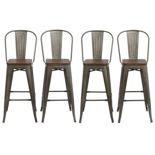 Astounding Buy Bronze Finish Counter Bar Stools Online At Overstock Bralicious Painted Fabric Chair Ideas Braliciousco