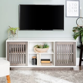 Strick & Bolton Hevia 56-inch Slatted TV Stand - 56 x 16 x 24h
