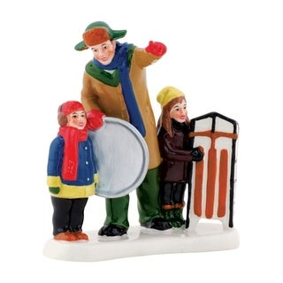 Department 56 Christmas Vacation Griswold Sled Scene Village Accessory Multicolored Ceramic 1 each