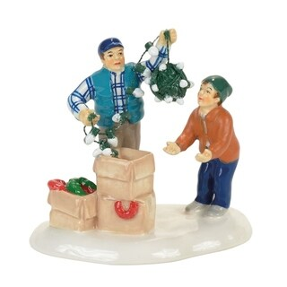 Department 56 Christmas Vacation Clark and Rusty Village Accessory 1 pk Multicolored Ceramic