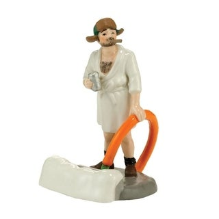 Department 56 Christmas Vacation Cousin Eddie Figurine White Porcelain 1 each Village Accessory