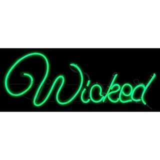 Gemmy Light Glo Wicked Sign Lighted Halloween Decoration 10-1/4 in. H x 13-1/2 in. W x 25 in. L 1 pk