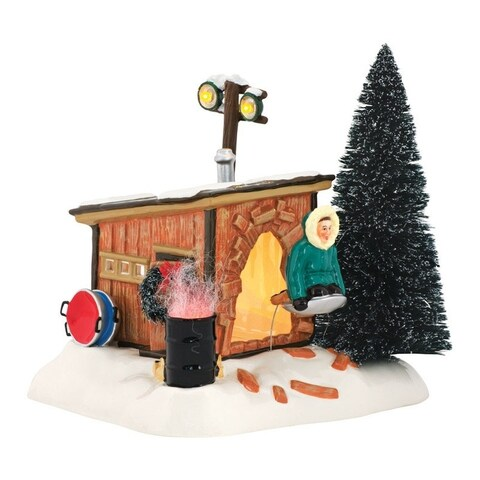 Department 56 Christmas Vacation Griswold Sled Shack Porcelain Village House Ceramic 1 each Multicolored