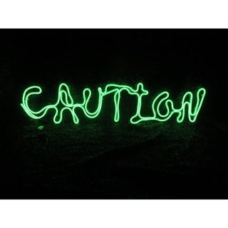 Sylvania Battery Operated Caution Window Decor Lighted Halloween Decoration 12 in. H x 0 in. W x 2 ft. L