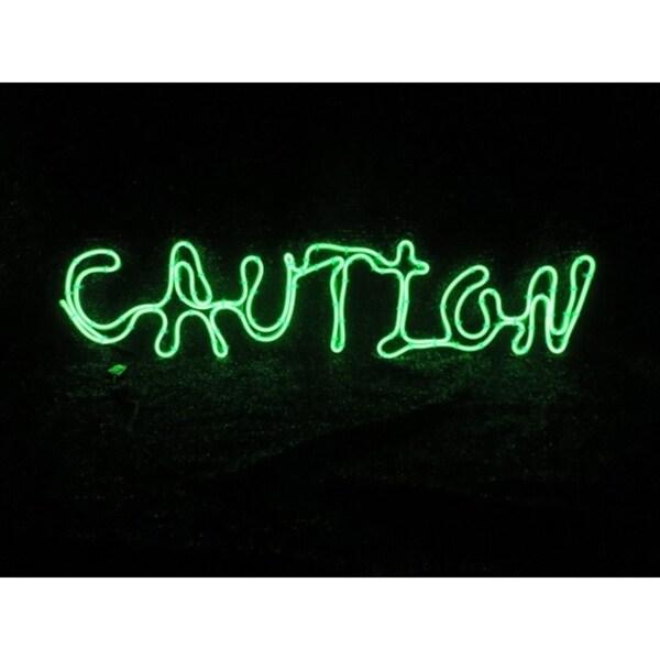 Shop Sylvania Battery Operated Caution Window Decor Lighted