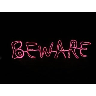 Sylvania Battery Operated Beware Window Decor Lighted Halloween Decoration 12 in. H x 0 in. W x 2 ft. L
