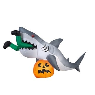 Gemmy Get Caught By A Shark Lighted Halloween Inflatable 48.8 in. H x 107.5 in. W x 35.8 in. L 1 pk