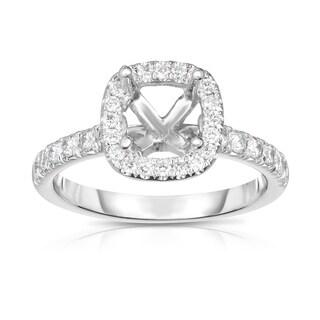 Noray Designs 14K White Gold Diamond (0.55 Ct, G-H Color, SI2-I1 Clarity) Semi-Mount Ring