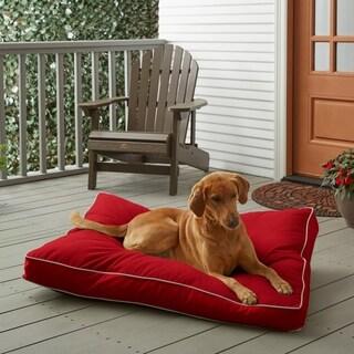 Sunbrella Jockey Red w/ Ivory Fiber Pet Bed