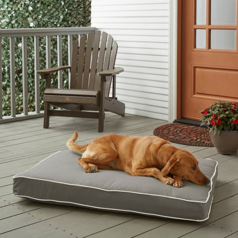 Sunbrella Charcoal Grey w/ Ivory FoamPet Bed