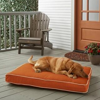 Sunbrella Rust Orange w/ Ivory FoamPet Bed