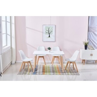 Best Master Furniture Mid Century Modern 5 Pieces Dining Set